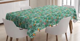 Rosa Tulpen Laub Tischdecke