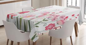 Blumen Beeren und Kräuter Tischdecke