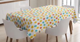 Bunte Punkt-Muster Tischdecke