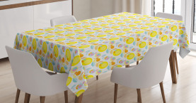 Abstract Summer Flowers Tablecloth