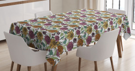 Bloomed Japanese Flower Tablecloth