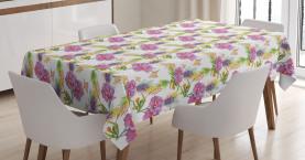 Lavendel und Pfingstrosen Tischdecke