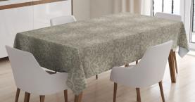 Blumen-Wirbel-Kurven Tischdecke
