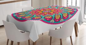 Geometrisches Herz-Laub Tischdecke