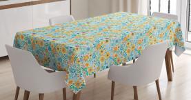 Tropisches Blumenmotiv Tischdecke