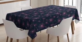 Vibrierende rosa Pflanze Tischdecke