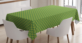 Simple Ethnic Foliage Leaves Tablecloth