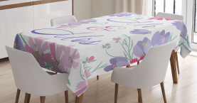 Colorful Flower Blooms Tablecloth