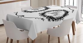 Ornate Floral Wreaths Tablecloth