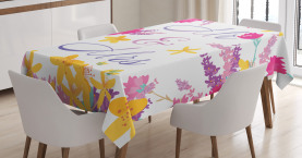 Colorful Wedding Flowers Tablecloth