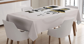 Man and Woman Design Tablecloth