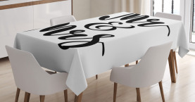 Hand Lettering Pattern Tablecloth