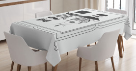 Male and Female Concept Tablecloth