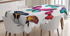 Lebendige Schmetterlinge Set Tischdecke