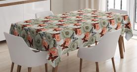 Mohn und Schmetterlinge Tischdecke