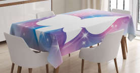 Weiß Floral Magisch Tischdecke