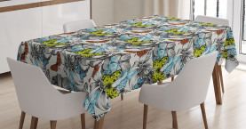 Blooms Roses Butterflies Tablecloth