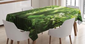 Sommer Tropischer Pflanzen Dschungel Tischdecke