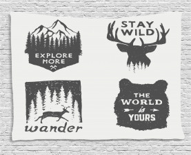 Quotes Wide Tapestry Stay Wild and Wander Printed Wall Hanging