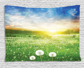 Spring Wide Tapestry Dandelion Flower Field Printed Wall Hanging