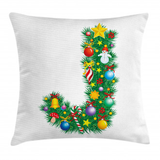 Uppercase Christmas Pillow Cover