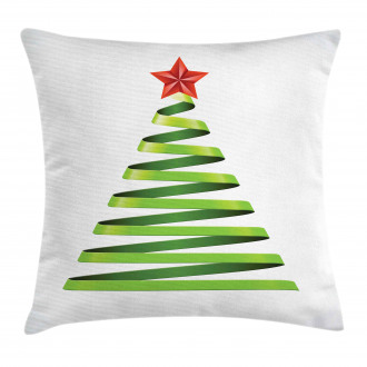 Ribbon Tree New Year Pillow Cover