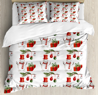 Xmas Motif Gift Box Duvet Cover Set
