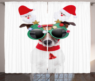 Funny Dog Sunglasses Curtain