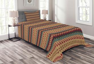 Aztec Line Pattern Bedspread Set