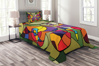Abstract Butterfly Art Bedspread Set