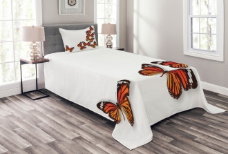 Spring Monarch Bug Bedspread Set