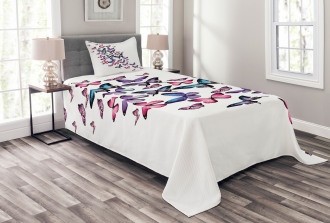 Cute Wings Feminine Bedspread Set