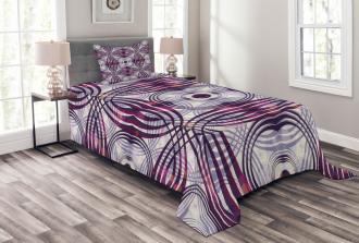 Geometric Stripe Circle Bedspread Set