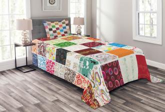 Patchwork Retro Style Bedspread Set