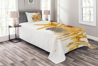 Sea Shells and Starfish Bedspread Set