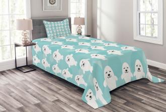 White Baby Seals Ocean Bedspread Set