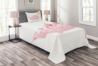 Crown and Magic Wand Bedspread Set