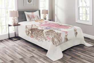 Princess on White Horse Bedspread Set