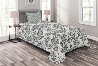 Floral Ornate Damask Bedspread Set