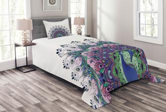 Exotic Wild Peacock Bedspread Set