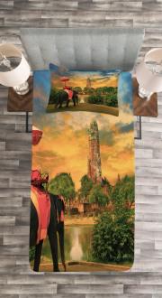 Pagoda in Ayuthaya Bedspread Set