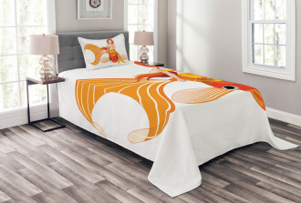 Princess on Goldfish Bedspread Set