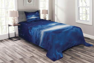 Night Sky Moon Stars Bedspread Set