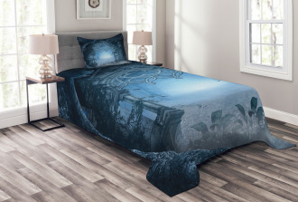 Foggy Magical Palace Bedspread Set