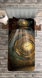 Clock Dream Sky Fiction Bedspread Set