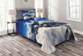 Snow Capped Mountain Bedspread Set