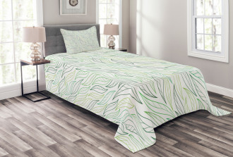 Modern Leaf Patterns Bedspread Set