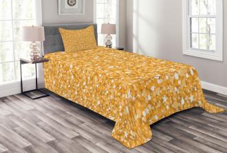 Abstract Polka Dots Art Bedspread Set