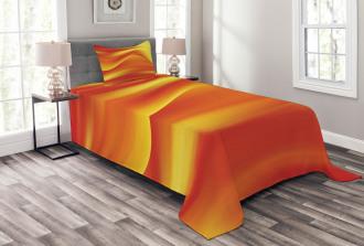 Abstract Digital Waves Bedspread Set