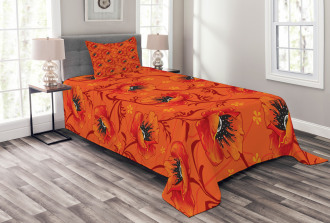 Poppy Flower Romance Bedspread Set